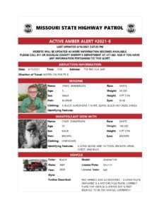 Missouri State Highway Patrol cancels Amber Alert for missing 5 year old boy taken by father
